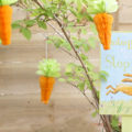 Easter Bunny Sign and Carrots