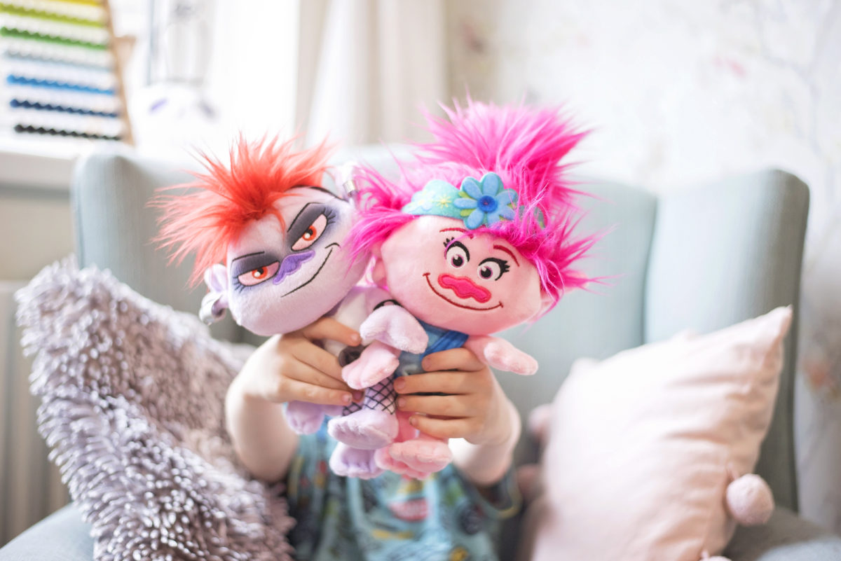 Trolls World Tour movie PLush from Posh Paws Poppy Queen Barb toys