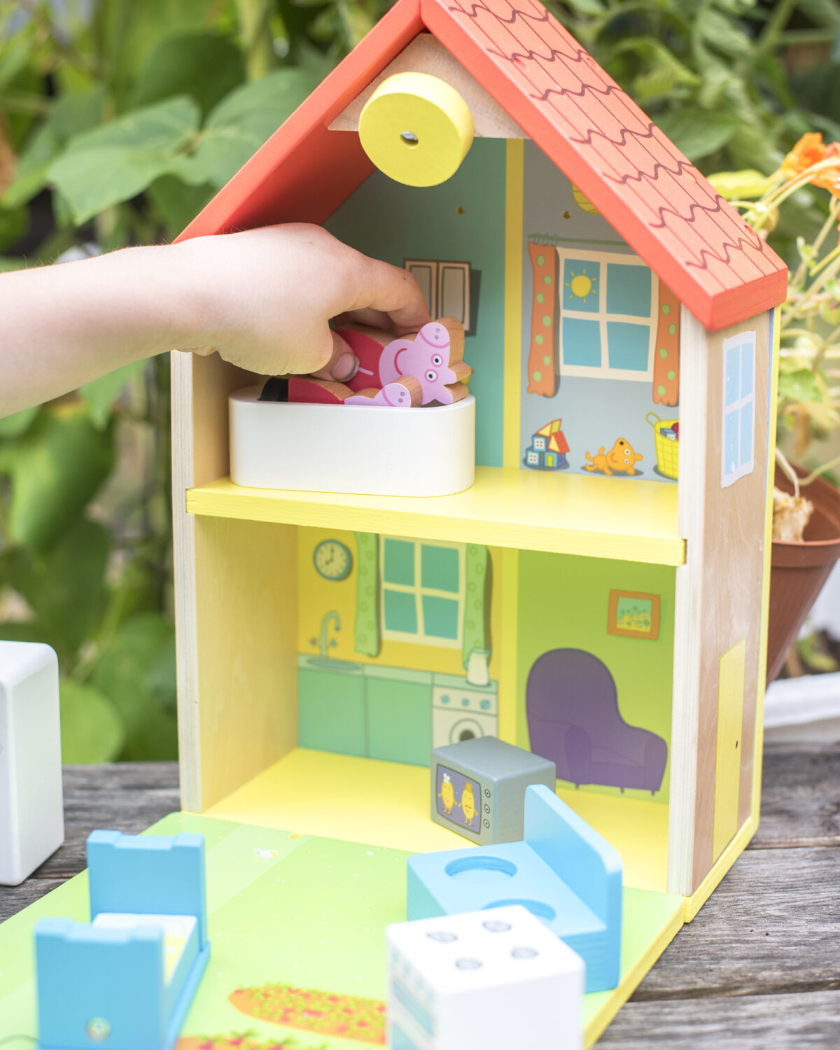 Inside of Peppa Pig Wooden House