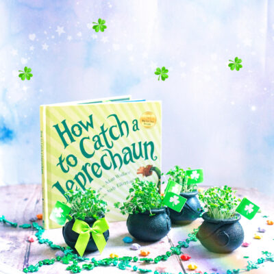 St Patrick's day crafts to make at home. Shamrock pots of gold . Make an edible leprechaun salad.