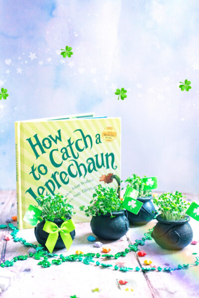 St Patrick's day crafts to make at home. Shamrock pots of gold . Make an edible leprechaun salad.