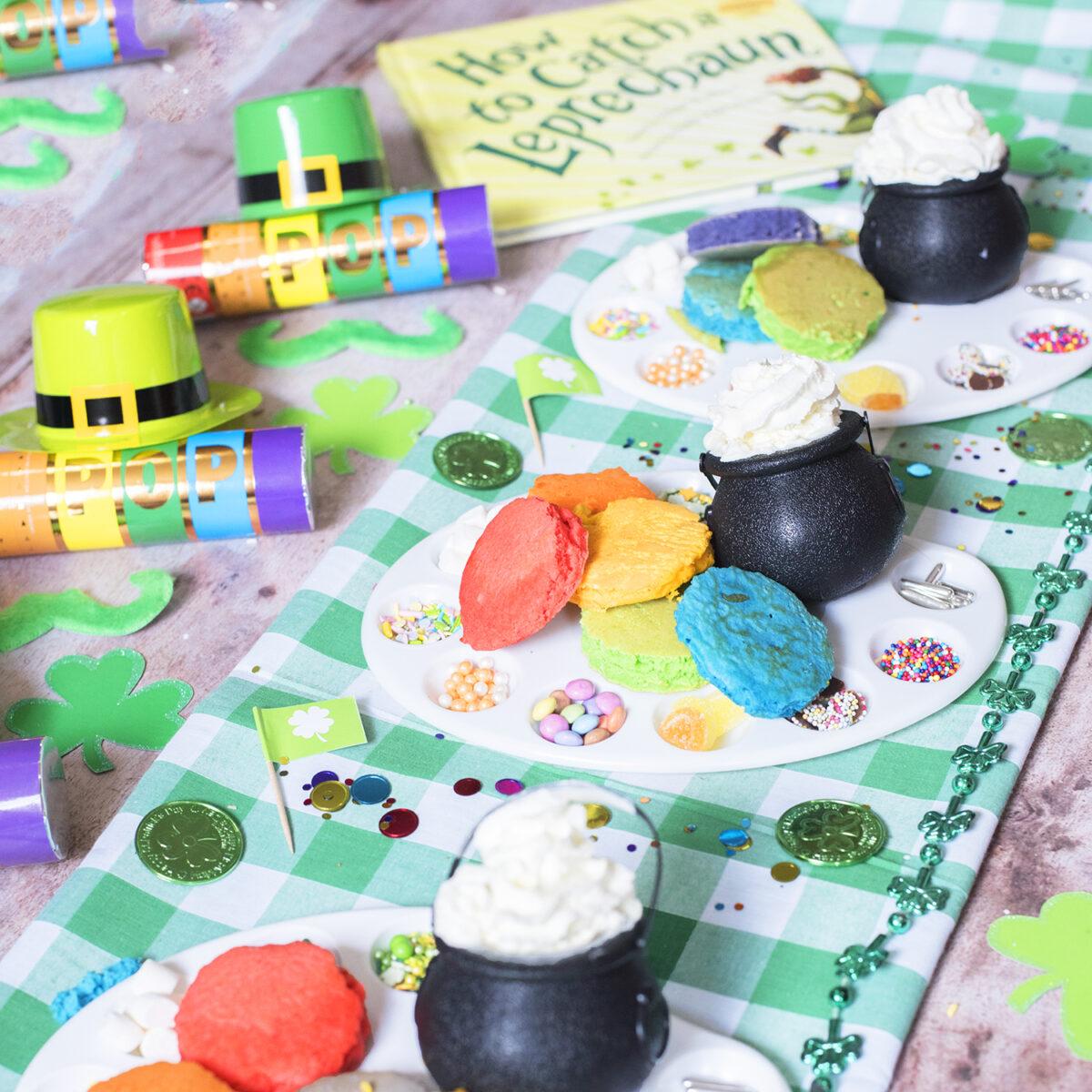 Fun St Patrick's day party - rainbow breakfast ideas