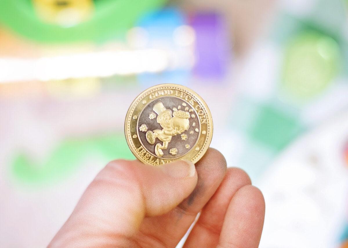 Top 10 Leprechaun Tricks.  A Lucky Leprechaun Irish Coin. Treasure left by the St. Patrick's day prankster as part of his treasure.