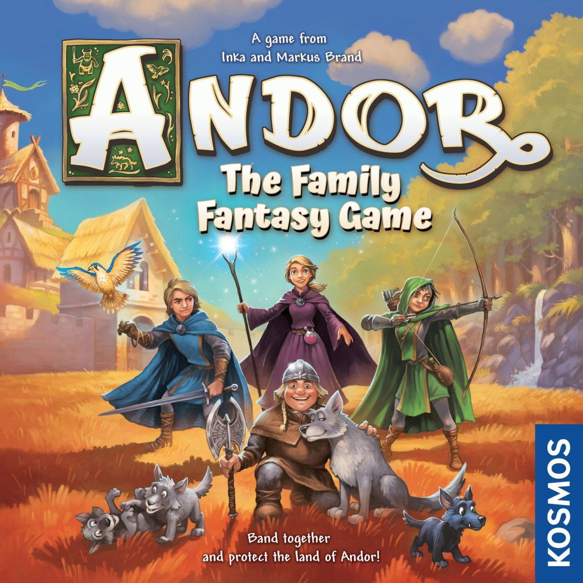 Image shows the box cover of Andor: The Family Fantasy Game by Kosmos Games. Image by Kosmos Games.