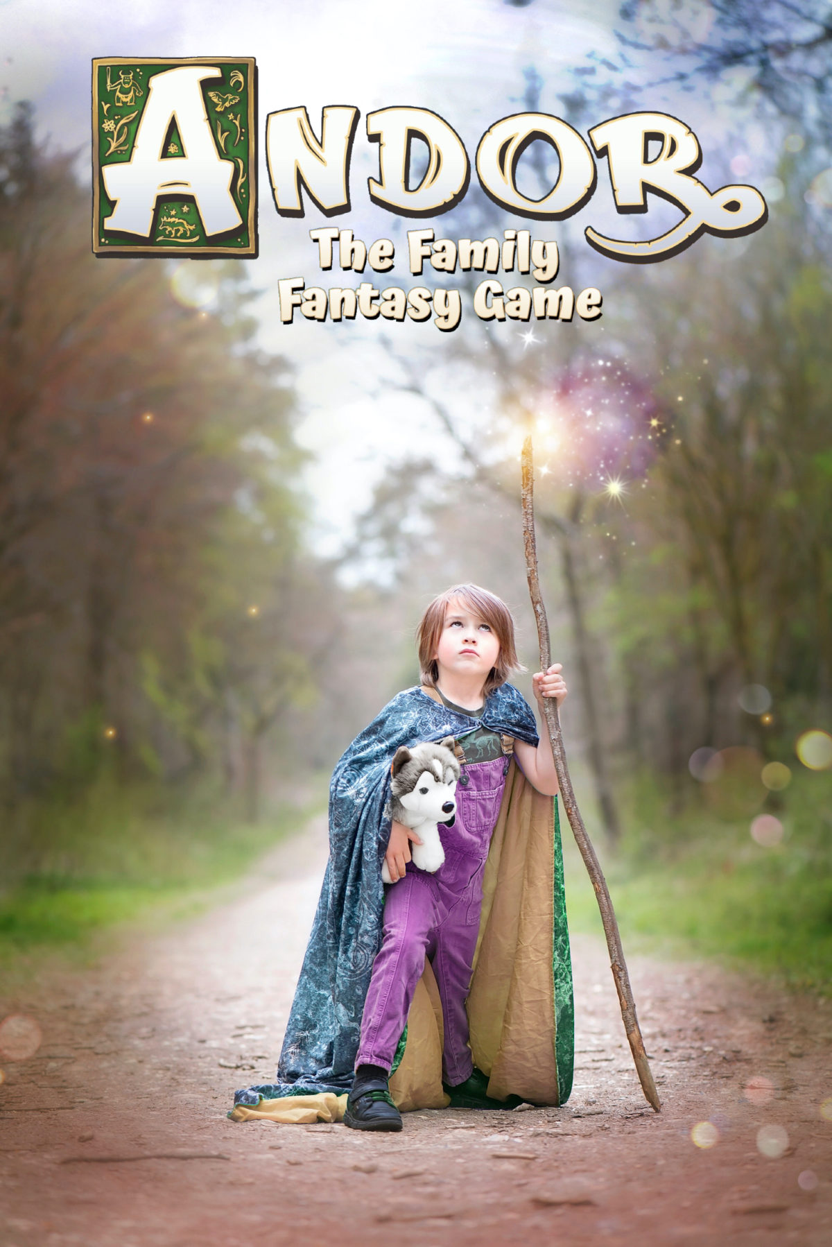 Image shows a small boy dressed as a wizard from the Andor: A Family Fantasy Game from Kosmos Games. Image by Keep Up With The Jones Family.